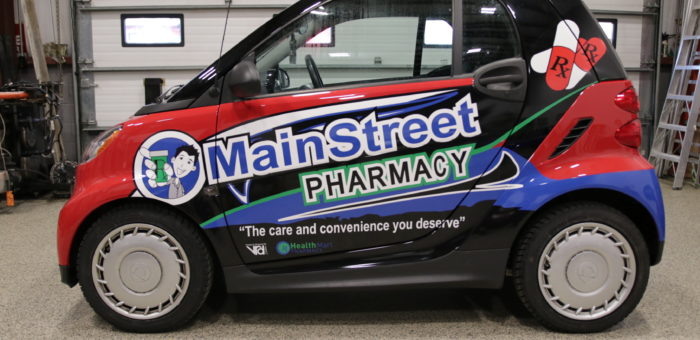 Main Street Pharmacy Smart ForTwo Partial Wrap (Full Print)