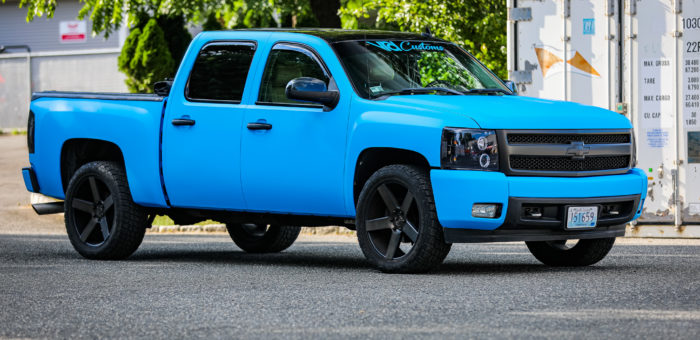 """BIG BLUE"" Chevy Silverado Wrap​"