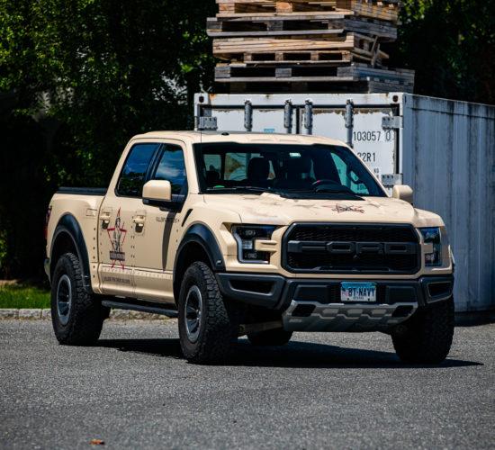 "2017 Ford ""WRAPtor"" Fallen Patriot's Desert Wrap"